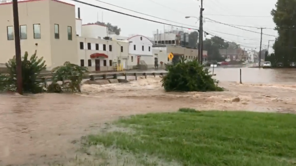 Flooding Caused by Torrential Rain in Pennsylvania | WeatherBug