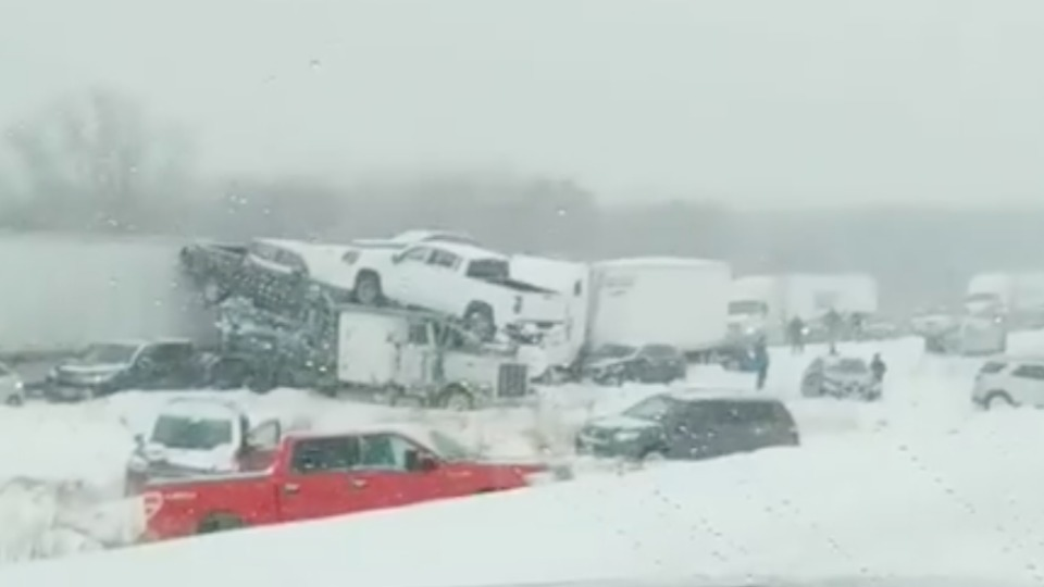 Multiple Injuries Reported in 40-Vehicle Pile-Up | WeatherBug
